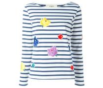 Sweatshirt mit Blumen-Patches