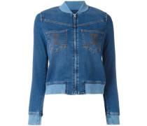 Jeans-Bomberjacke mit Brusttaschen