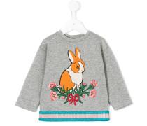Sweatshirt mit Hase-Stickerei