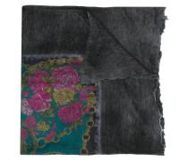 Ausgefranster Schal mit Blumen-Print