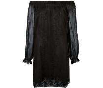 Schulterfreies Minikleid - women - Baumwolle