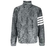Shearling-Jacke mit Logo-Streifen