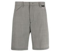 Shorts mit Mikro-Karomuster