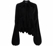 Plissierte Oversized-Bluse