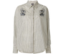 striped shirt with sequin star appliqués