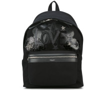 Love patch City backpack