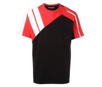 - T-Shirt in Colour-Block-Optik - men - Baumwolle