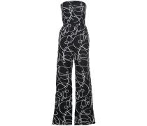 printed bandeau jumpsuit