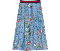 New Flora print skirt