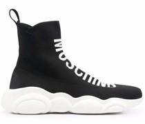 logo intarsia-knit high-top sneakers