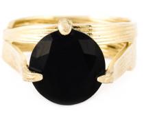 Zweiteiliger 'Bamboo' Ring aus 18kt vergoldetem Sterlingsilber