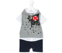Shorts-Set mit Kapuze - kids - Baumwolle - 9 M.