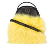 Mini Rucksack mit Fuchspelzbesatz