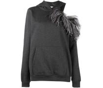 open shoulder hoodie