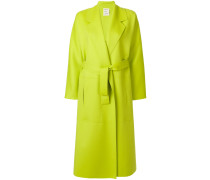 long belted tailored coat
