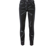 Jeans mit Trompe-l'œil-Motiv - women