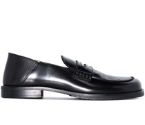 Otello crocodile-effect leather loafers