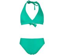 Strukturierter Triangel-Bikini