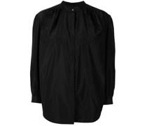 Taft-Bluse mit Puffärmeln