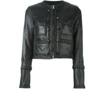 Cropped-Jacke mit geflochtenem Saum