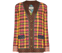 Karierter Tweed-Blazer
