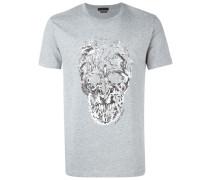 T-Shirt mit Totenkopf-Vogel-Print