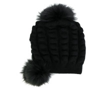 fox fur bobble hat