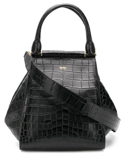 'Anita' Handtasche mit Kroko-Effekt