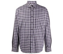 long sleeved mix-check shirt