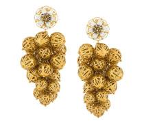 sphere cluster clip-on earrings