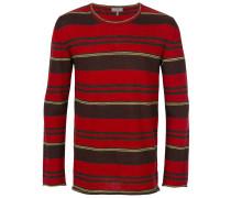 Gestreifter Pullover mit rundem Ausschnitt