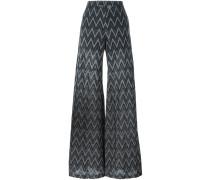 zigzag pattern trousers