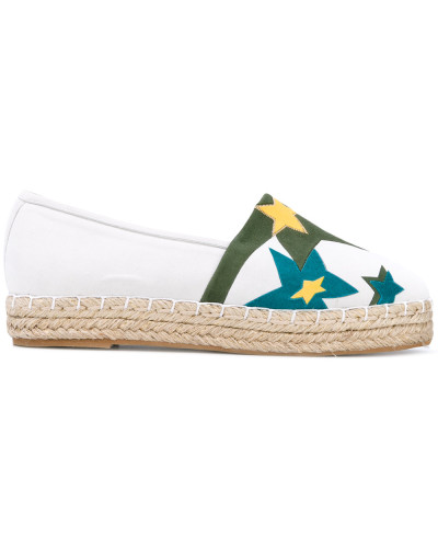 Espadrilles mit Stern-Patches