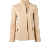 - band collar swing jacket - women - Baumwolle