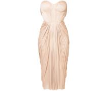 gathered pleated design dress