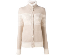 cashmere high neck buttoned cardigan - women
