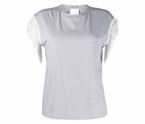 T-Shirt mit Fransenärmeln
