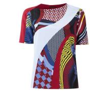 color block print T-shirt