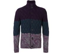 cashmere colour block cardigan