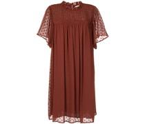 Kleid mit Rüschenkragen