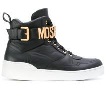 logo buckle hi-top sneakers