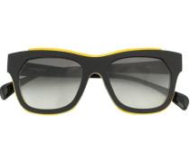 Sonnenbrille mit Leder-Detail