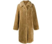 Oversized-Mantel aus Faux Fur