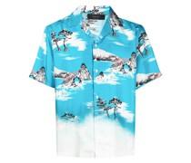 Hawaiihemd mit botanischem Print
