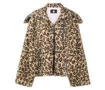Jacke mit mit Leoparden-Print