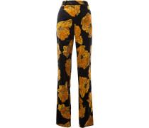 Hose mit Sonnenblume-Print