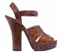 Sandalen mit Blockabsatz 140mm