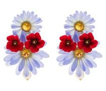 Ohrclips mit Blumenanhänger