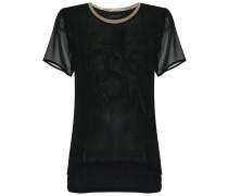 round neck silk t-shirt - women - Silk Crepe - G