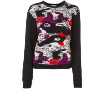 Pullover mit abstraktem Print